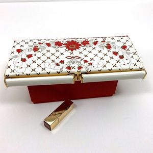 VTG White Faux Patent Leather Party Clutch